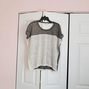 Madewell linen colorblock top